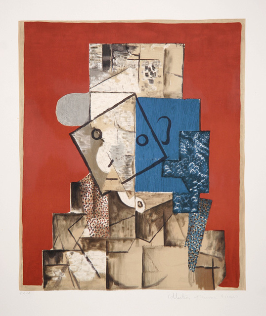 Pablo Picasso, 'Visage sur Fond Rouge, 1914', 1979-1982, Print, Lithograph on Arches paper, RoGallery