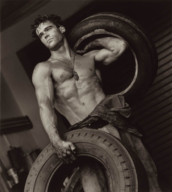 Herb Ritts, 'Fred with Tires IV, Hollywood', 1984, CHRISTOPHE GUYE GALERIE
