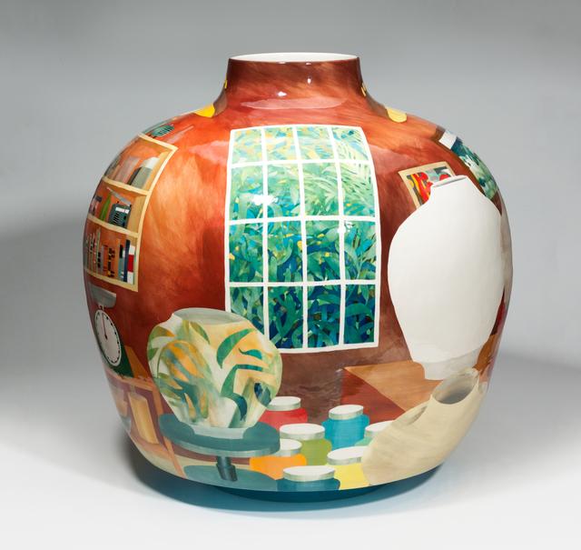 John Newdigate, 'Outside Insight (Studio View)', 2019-2020, Design/Decorative Art, Hand Painted, Glazed Porcelain, EBONY/CURATED