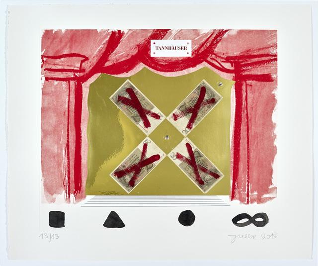 """Jonathan Meese, '""""TANNHÄUSER; QUASTENFLOSSI: EVOLUTIONSCHEF TOECUTTER: (HIER HERRSCHT DEINE ERZSCHNÜSS)""""', 2015, Galerie Sabine Knust"""