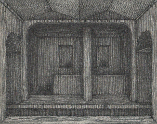 Hong Buhm, 'unnamed room #4', 2014, Drawing, Collage or other Work on Paper, Pencil, pen, ink, etching paper, Gallery SoSo