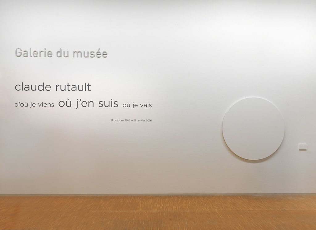 "Installation view of ""Claude Rutault: D'où je viens, où je suis, où je vais"" at Centre Pompidou, Paris (2015-2016) Photo: G. Meguerditchian"