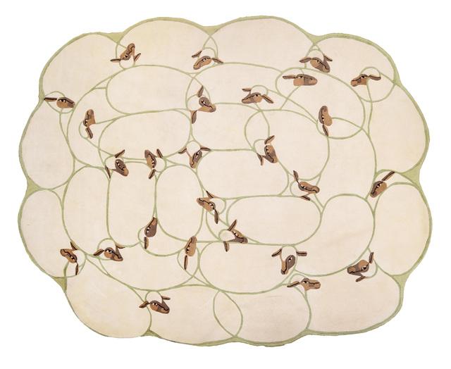", '""Grand Troupeau"" carpet,' ca. 1985, Galerie Chastel-Maréchal"
