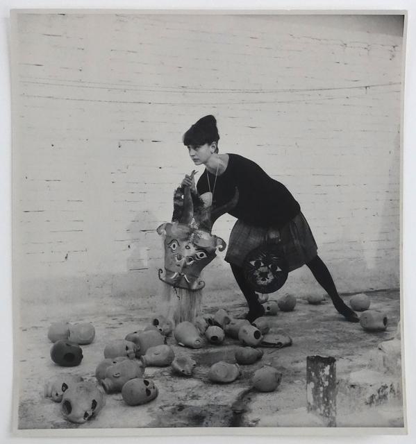 Kati Horna, 'Mujer y mascara, Ciudad de Mexico, 1963', 1963, Photography, Vintage gelatin silver print, Michael Hoppen Gallery