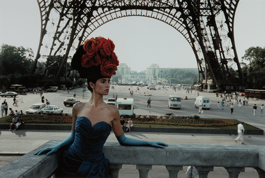 Red Hat and Eiffel Tower, Patrizia for Figaro Magazine, Paris