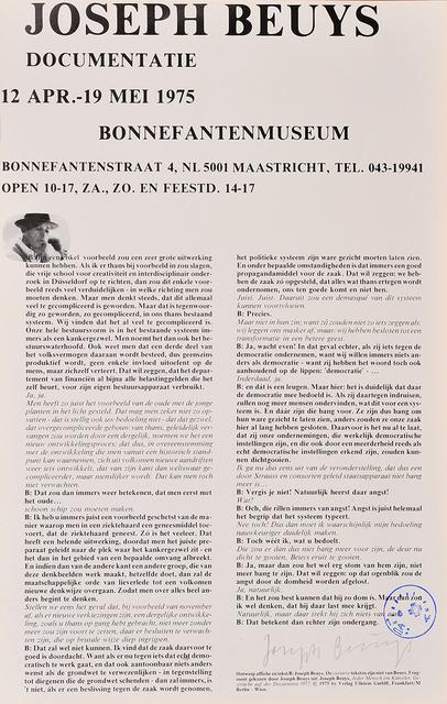 Joseph Beuys, 'Documentatie -Bonnefantenmuseum Maastricht', 1975, Millon Belgium