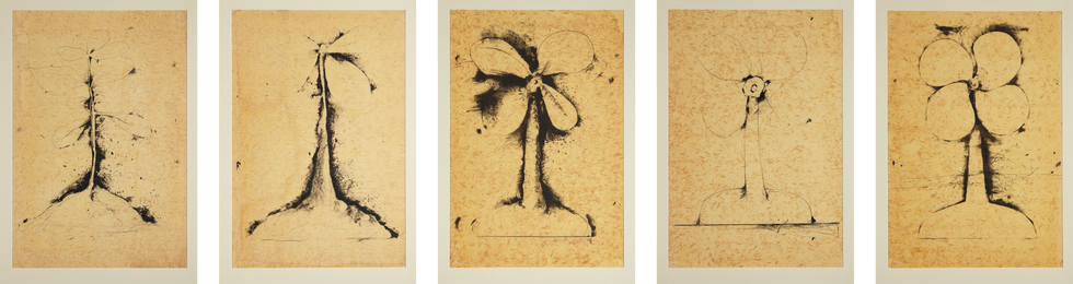 Jim Dine, 'Lithographs of the Sculpture: The Plant Becomes a Fan,' 1975, Phillips: Evening and Day Editions (October 2016)
