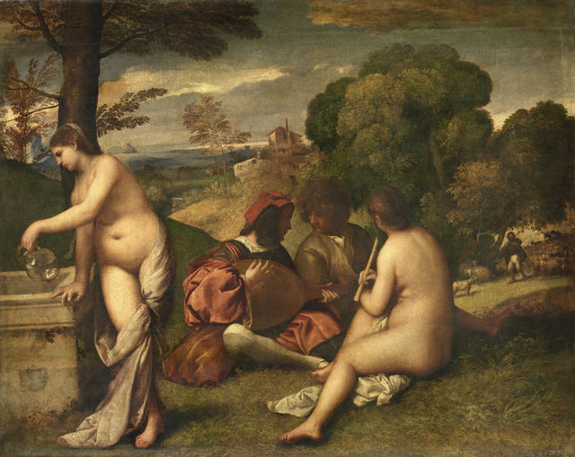 Titian, 'Concert in the Open Air', ca. 1510, Musée du Louvre