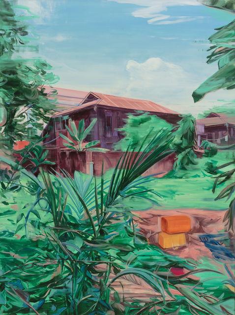 Lei Qi, 'Orange barrels in front of the chalet', 2019, Matthew Liu Fine Arts