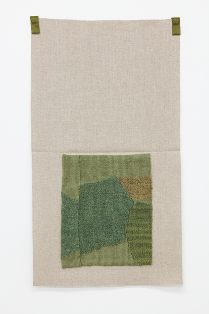 , 'Grayish green, rhubarb-dyed blue-green, yellow-green, lichen-dyed light brown,' 2015, Galerie Nordenhake