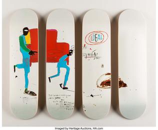 Light blue movers, set of four skate decks (Open Edition)
