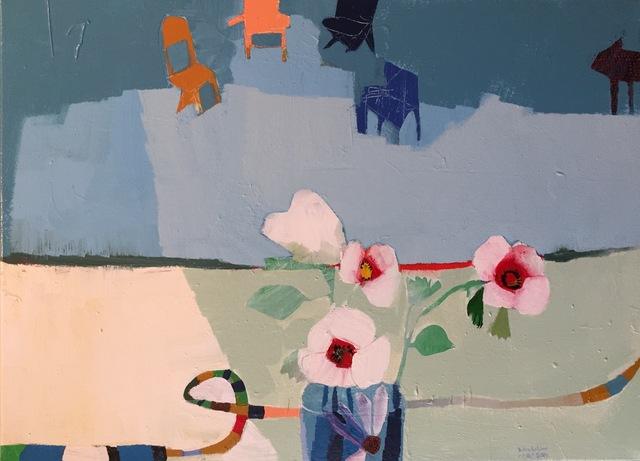 , 'White Poppies,' 2017, M.A. Doran Gallery
