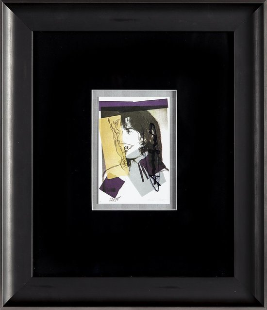 Andy Warhol, 'Andy Warhol  Mick Jagger FS.II.142 Hand Signed Gallery Announcement Invitation', 1970-2000, Drawing, Collage or other Work on Paper, Lithograph, Modern Artifact