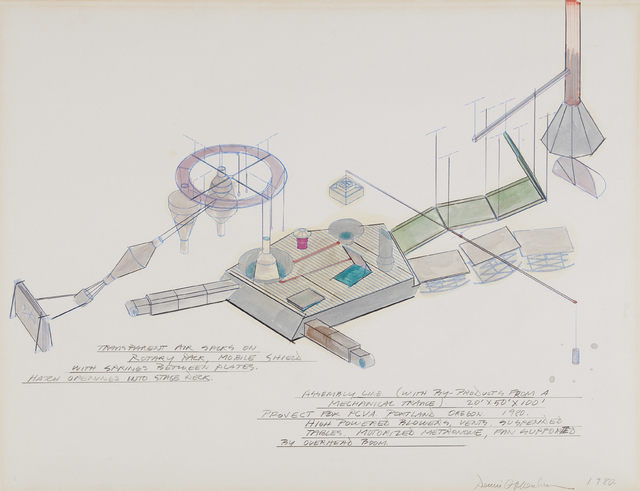 Dennis Oppenheim, 'Assembly Line (With By-Products from a Mechanical Trance), Project for PCVA. Portland Oregon.', 1980, Phillips