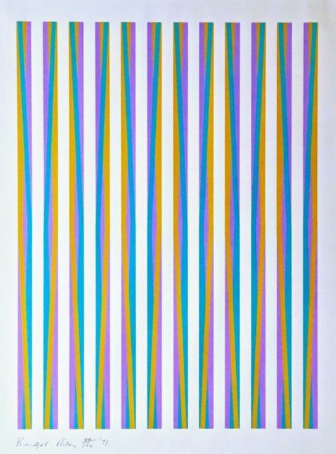 Bridget Riley, 'Untitled, from Conspiracy: The Artist as Witness (Schubert, 15)', 1971, Print, Silkscreen on 100% handmade rag paper, Alpha 137 Gallery