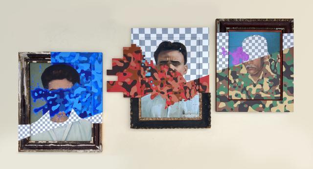 Nandan Ghiya, 'A Gentleman through three stages of RGB Invasion (Triptych)', 2016, Exhibit 320