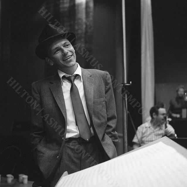 , 'Frank Sinatra - In the studio recording Songs for Swingin' Lovers,' 1956, Hilton Asmus