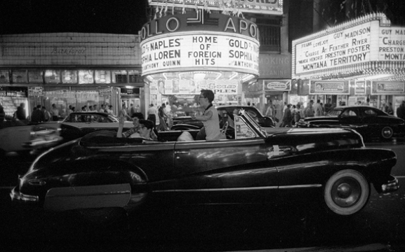 , 'Cruising on Saturday night, time square, NYC,' 1957, Lumiere Brothers Gallery