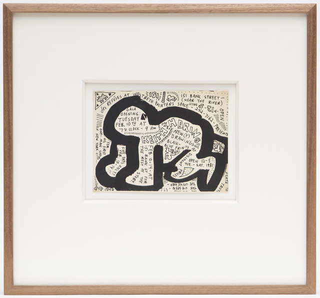 Keith Haring, 'DES REFUSES / WESTBETH PAINTERS SPACE (INVITATION)', 1981, Ephemera or Merchandise, Ink, card, Artificial Gallery