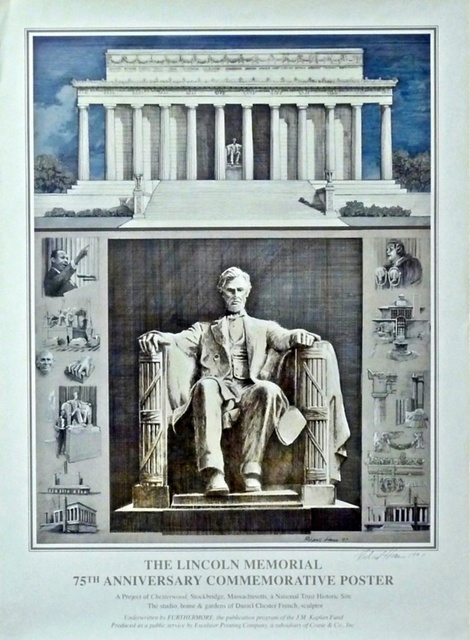 Richard Haas, 'The Lincoln Memorial, 75th Anniversary Commemorative Poster (Hand Signed)', 1997, Alpha 137 Gallery Auction