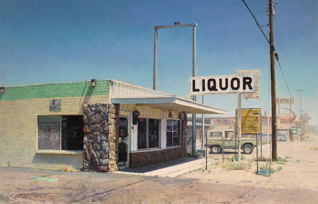Jason Kowalski, 'Corner Convenience', 2019, Painting, Oil on wood panel, Sue Greenwood Fine Art