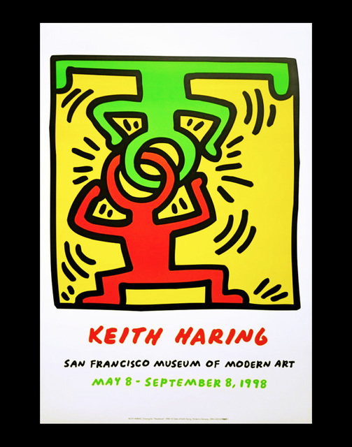 Keith Haring, 'Keith Haring at San Francisco Museum of Modern Art poster ', 1998, Lot 180