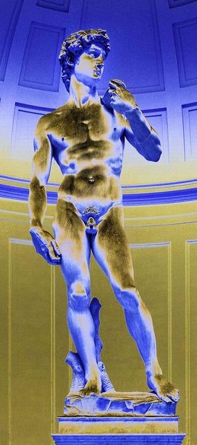 Massimo Listri, 'David (blue)', 2015, IFAC Arts