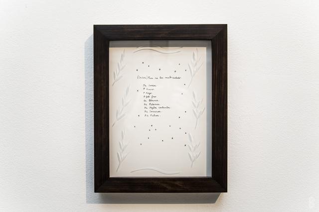 , '(Coisas) para se ter muito cuidado,' 2013, Galeria Emma Thomas