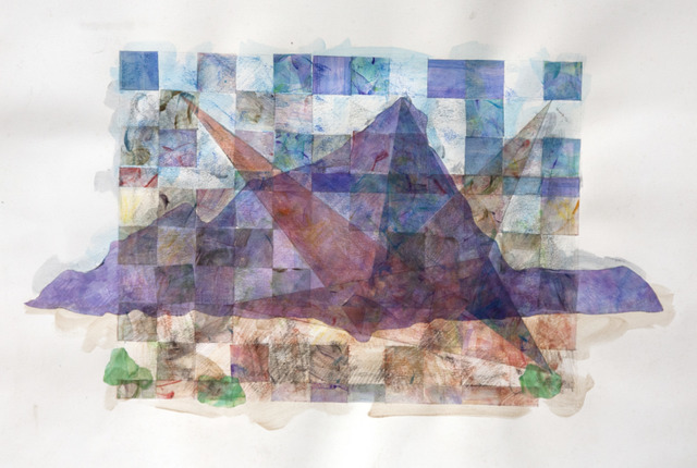 , 'Mountain and Triangles (study),' 2015, Court Tree Gallery