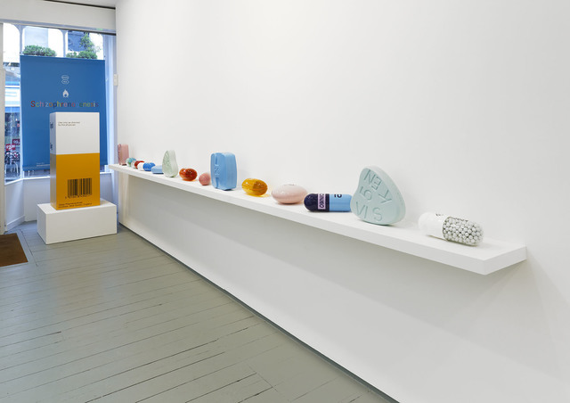 Damien Hirst, 'Theophylline Extended Release IL 3634', 2014, Sculpture, Polyurethane resin with ink pigment. PETG vacuum formed shell filled with white glass marbles. 2014. Edition of 30. Numbered, signed and dated in the cast., Paul Stolper Gallery