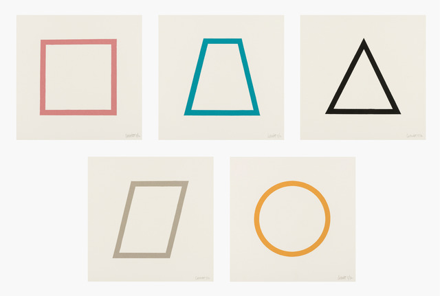 , 'Five Geometric Figures in Five Colors,' 1986, RAW Editions