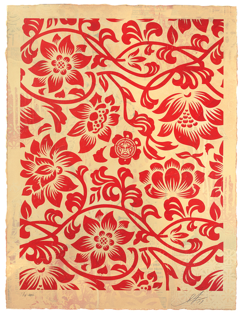 , 'Floral Takeover (Red/Cream),' 2017, Treason Gallery