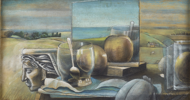, 'Still Life with Glass, Apple and Spoon,' 1944, The Scottish Gallery