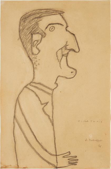 Jean Dubuffet, 'Michel Tapié', 1946, Phillips