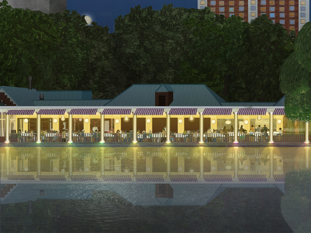 , 'The Central Park Loeb Boathouse at Dusk,' 2018, Fountain House Gallery