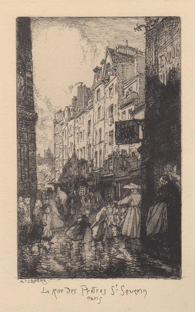 , 'La Rue des Pretres St. Severin Paris,' 1890-1900, Hans den Hollander Prints