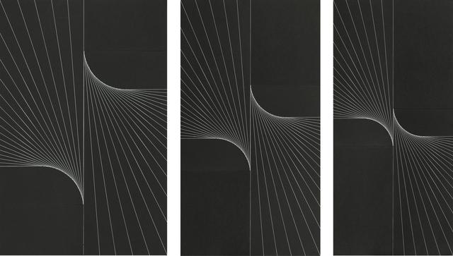 , 'Serielle Lineaturen, Verwindung, 3 Phasen, Blatt 1-3,' , Galerie EIGEN + ART