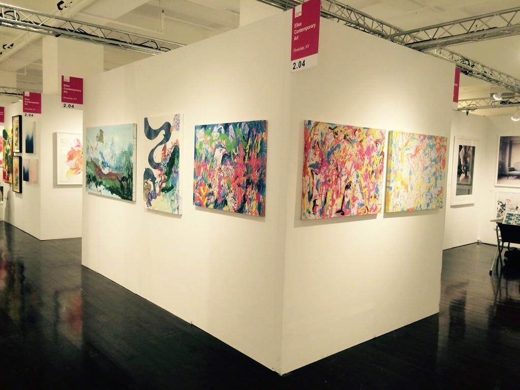 Elisa Contemporary Art at Affordable Art Fair Fall 2015, Booth 2.04.  LA Artist, Kimber Berry and Cuban Artist, Renelio Marin