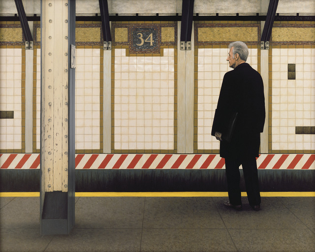 , 'My Father in the Subway III (34th Street),' 1984, Gallery Henoch