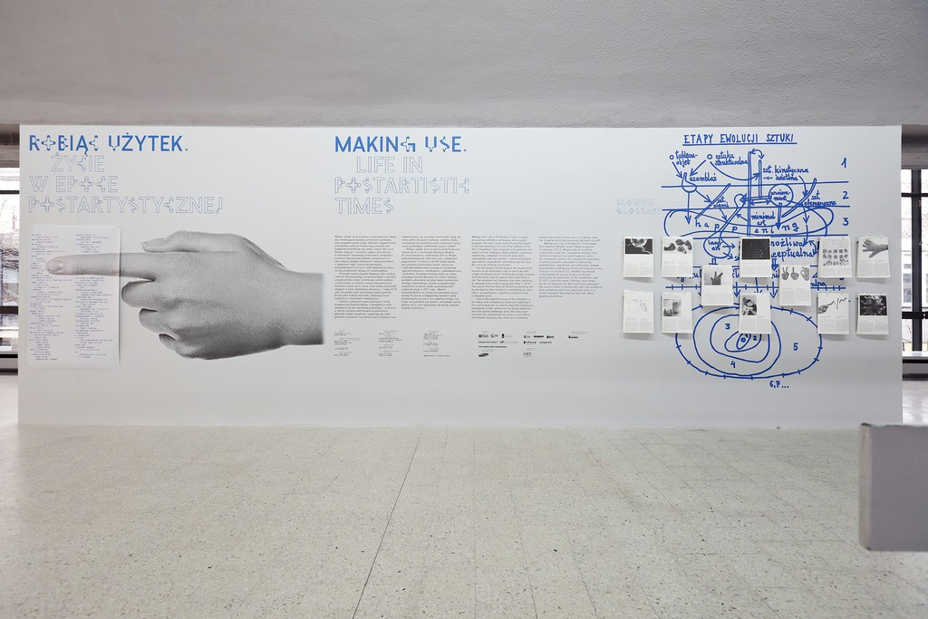 """Making Use: Life in Postartistic Times"" exhibition view. Photo by Bartosz Stawiarski"
