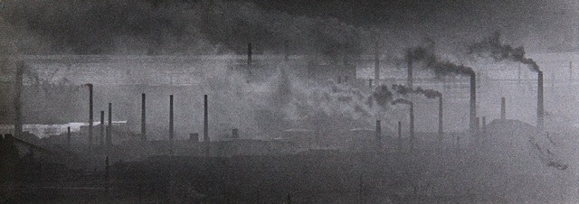 , 'Osaka, Japan. Industrial part of town,' 1960-vintage print, IBASHO