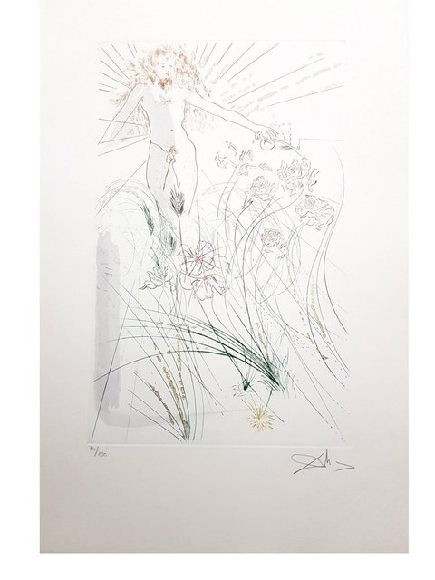 """Salvador Dalí, 'Aquatint """"The Beloved Feeds Among the Lilies"""" by Salvador Dali', 1971, Galerie Philia"""