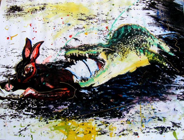 Christof Kohlhöfer, 'Hase und Krokodil', 1994, SETAREH