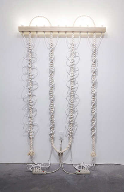 Dana Hemenway, 'Untitled (White Extension Cords, Rope)', 2016, Eleanor Harwood Gallery
