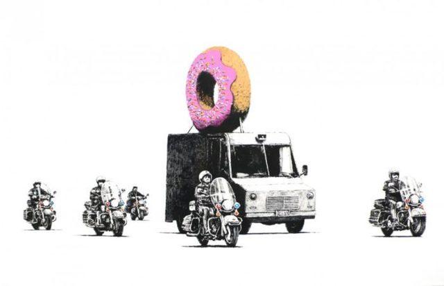 Banksy, 'Strawberry Donuts (Signed)', 2009, Prescription Art