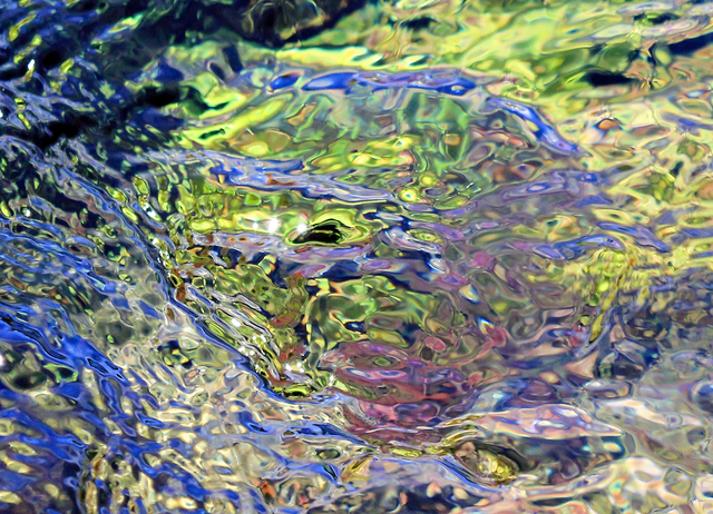 Larry Garmezy, 'Flow State #2 - Abstract / Impressionist Waterscape photography of Rocky Mountain natural spring water in blue and green', 2017, Archway Gallery