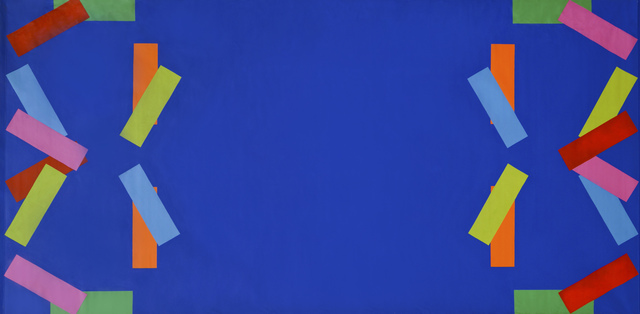 , 'Blue Red Gold Pink Green Yellow Y Bar,' 1965, Broadway 1602