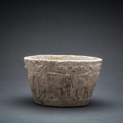 Unknown Sumerian, 'Sumerian Stone Bowl with animals scene', 3000 BCE-2000 BCE, Barakat Gallery