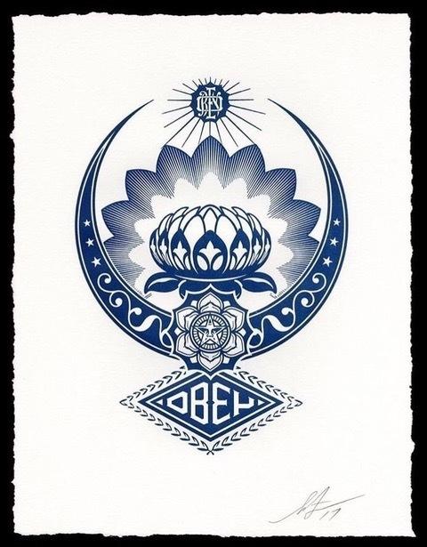 Shepard Fairey (OBEY), 'obey lotus ornament letterpress', 2017, Rudolf Budja Gallery