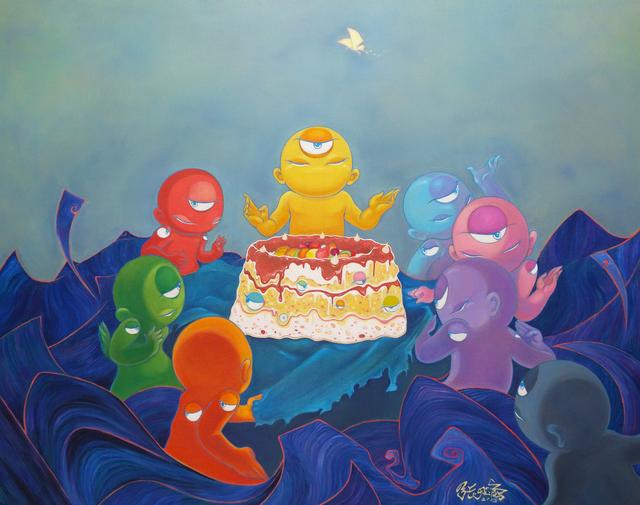 , 'Cake Sharing,' 2013, City Art Gallery Singapore